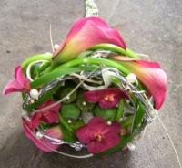 apart klassiek bruidsboeket, met calla\'s en vanda orchideetjes