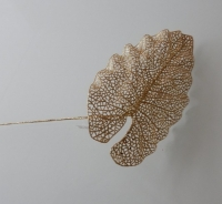 Anthuriumblad glitter, goud kleur