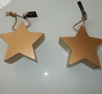 houten gouden sterren
