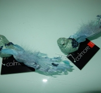 blauw/turquoise glittervogeltjes