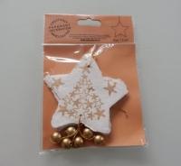 creme witte sterren van geschept papier 6 stuks
