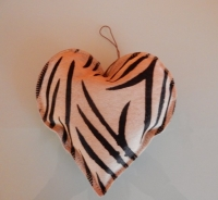 leren vacht hart zebraprint