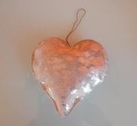 leren vacht hart creme met zilver