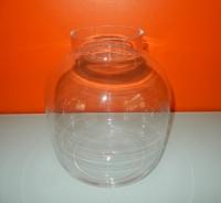 prachtige glazen vaas, top model!