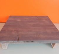 steigerhouten tafeltje grijs van Kitchen Trend