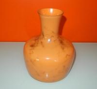 glazen vaas Luimes & Luimes oranje met bruine vegen