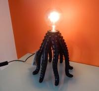 Octopuslamp mat zwart