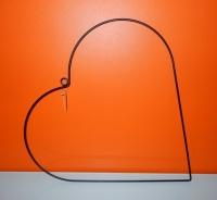 Metalen hart, zwart staal