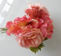 boeketje zijde, zacht zalm roze