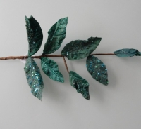 smaragd groene bladeren met glitters